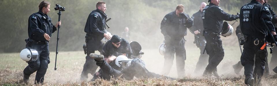 Hambacher Forst Polizeieinsatz